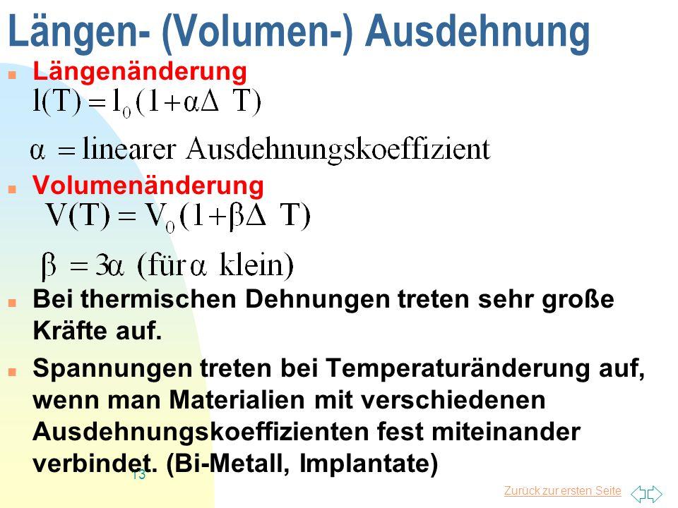 Längen- (Volumen-) Ausdehnung