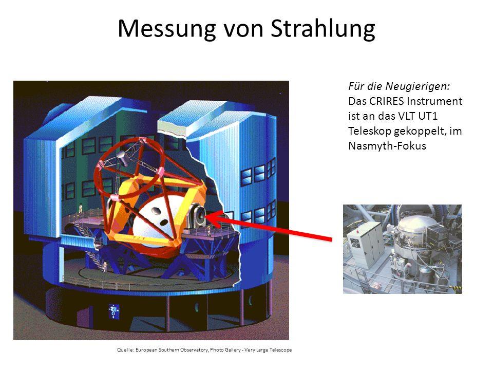 Messung von Strahlung Für die Neugierigen: Das CRIRES Instrument