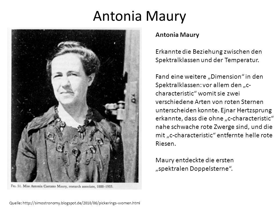 Antonia Maury Antonia Maury