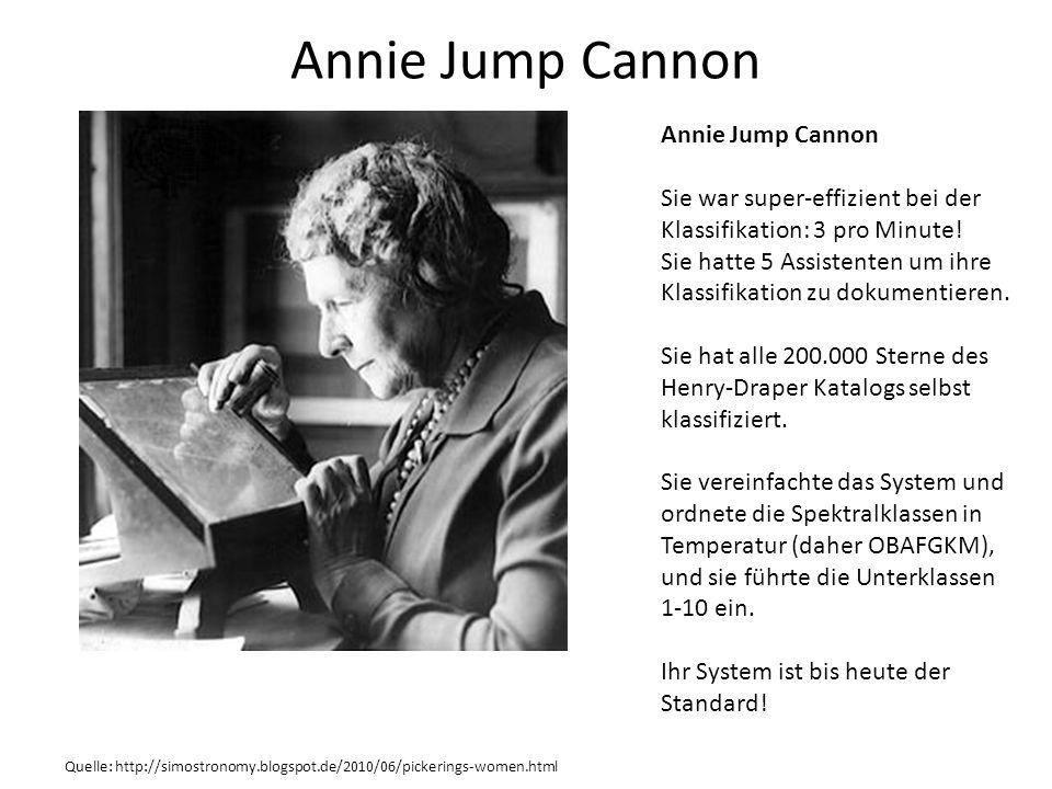 Annie Jump Cannon Annie Jump Cannon Sie war super-effizient bei der