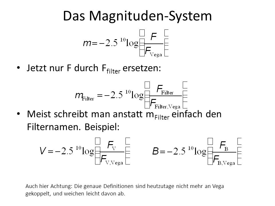 Das Magnituden-System