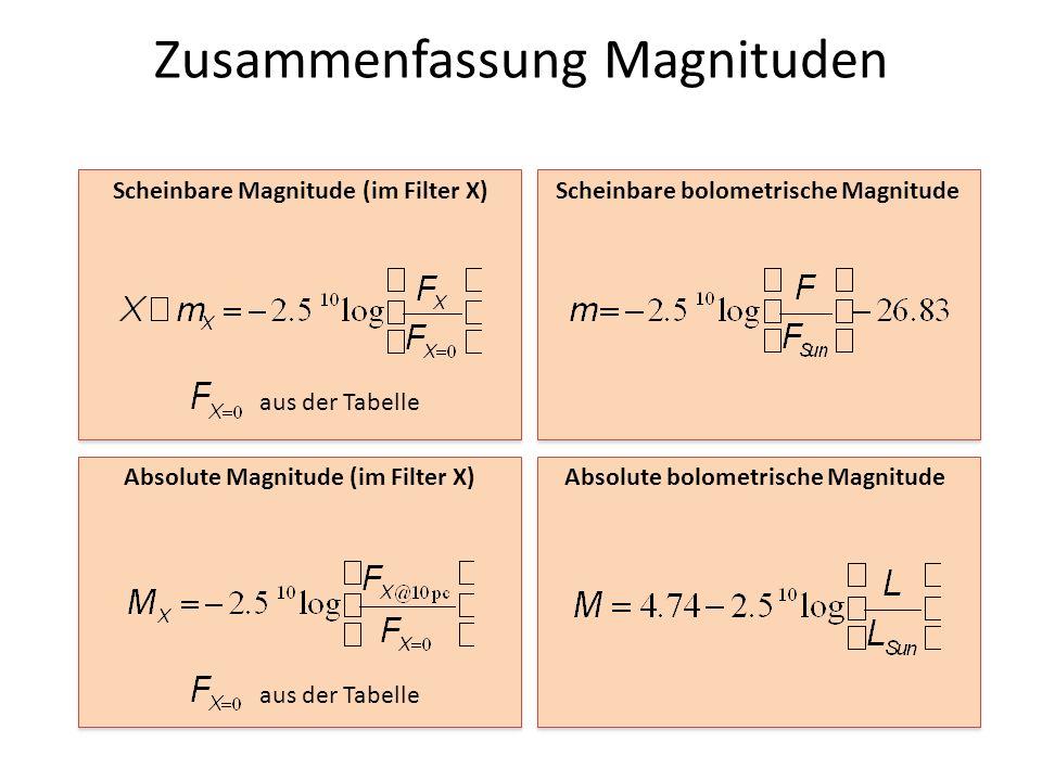 Zusammenfassung Magnituden