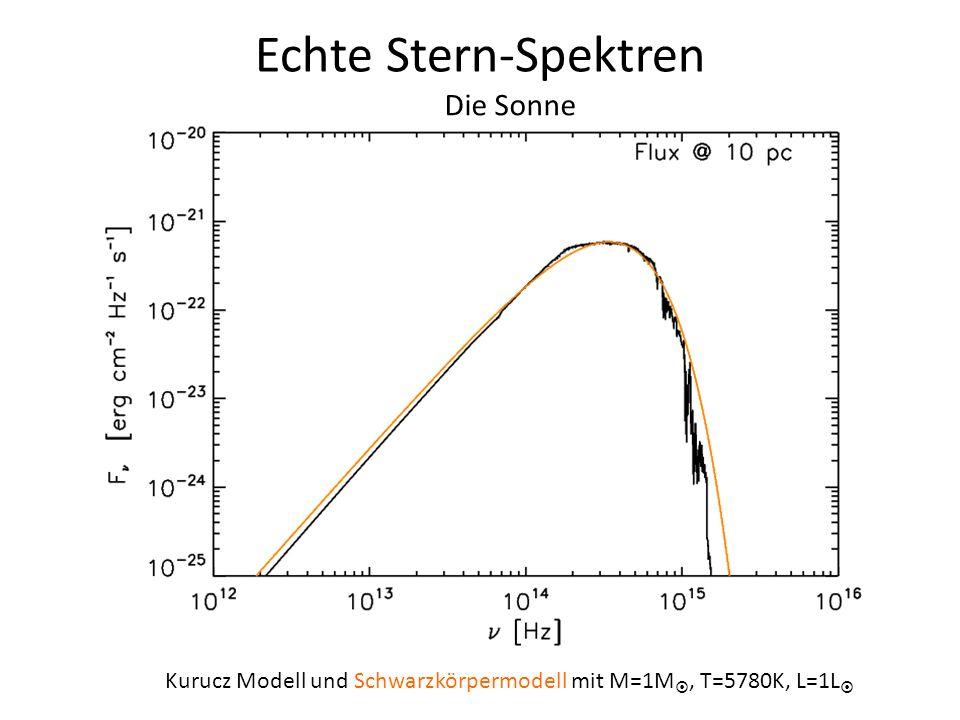 Echte Stern-Spektren Die Sonne