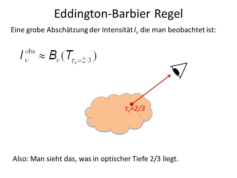 Eddington-Barbier Regel