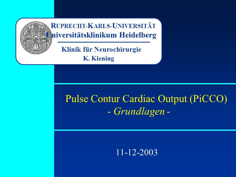 Pulse Contur Cardiac Output (PiCCO) - Grundlagen -