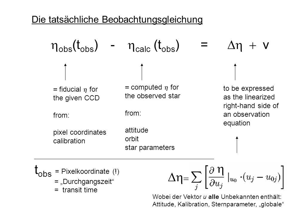 """tobs = Pixelkoordinate (!) = """"Durchgangszeit = transit time h Dh="""