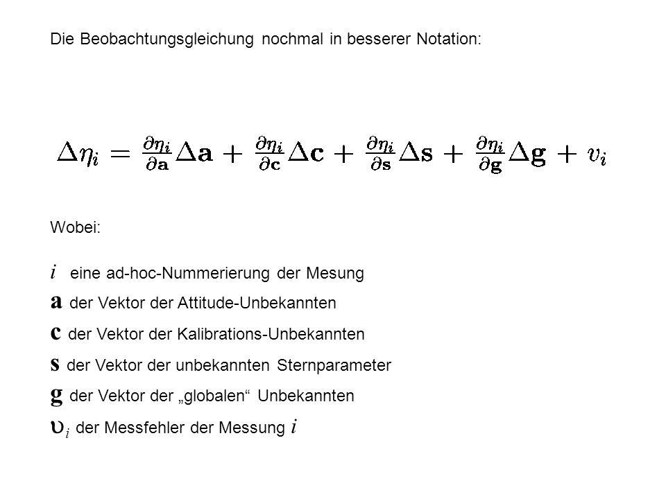 Die Beobachtungsgleichung nochmal in besserer Notation: