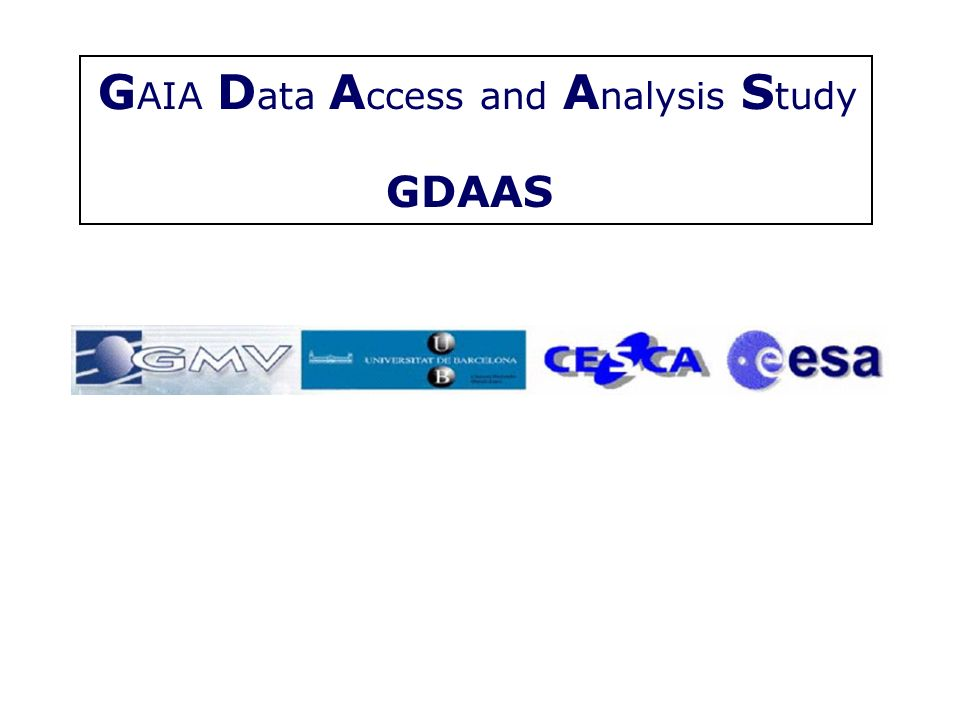GAIA Data Access and Analysis Study