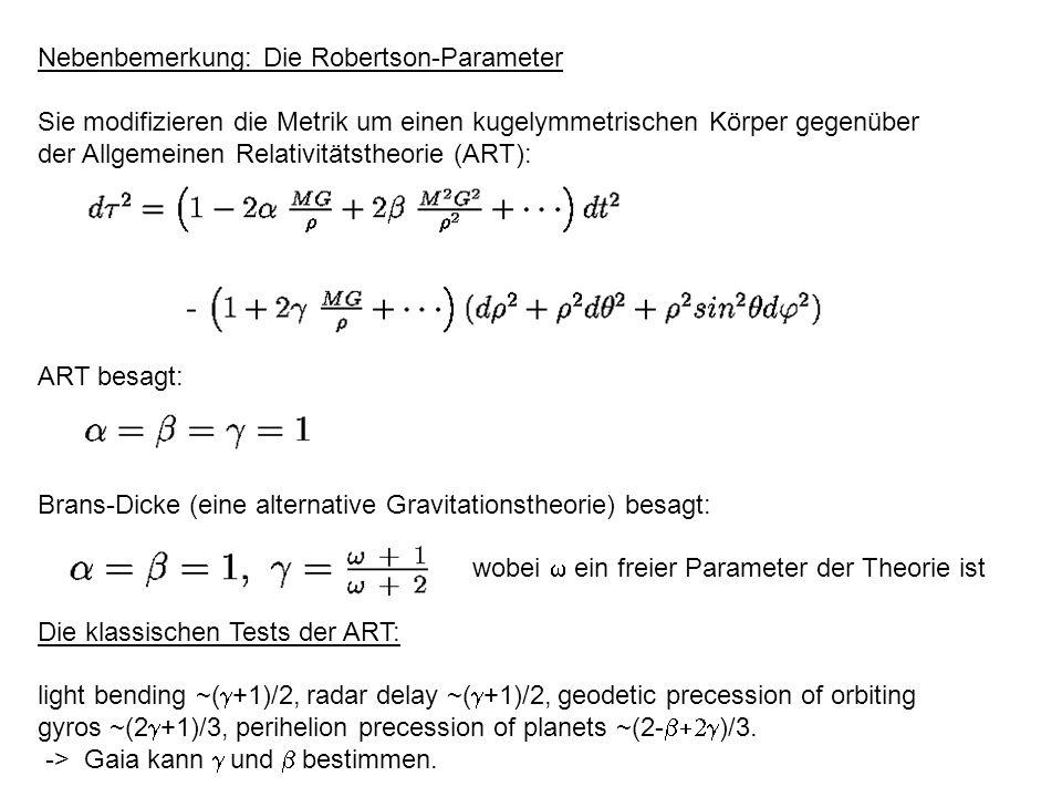 Nebenbemerkung: Die Robertson-Parameter