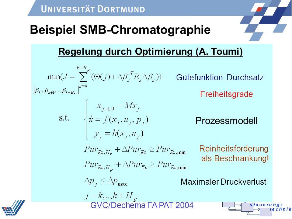 Beispiel SMB-Chromatographie