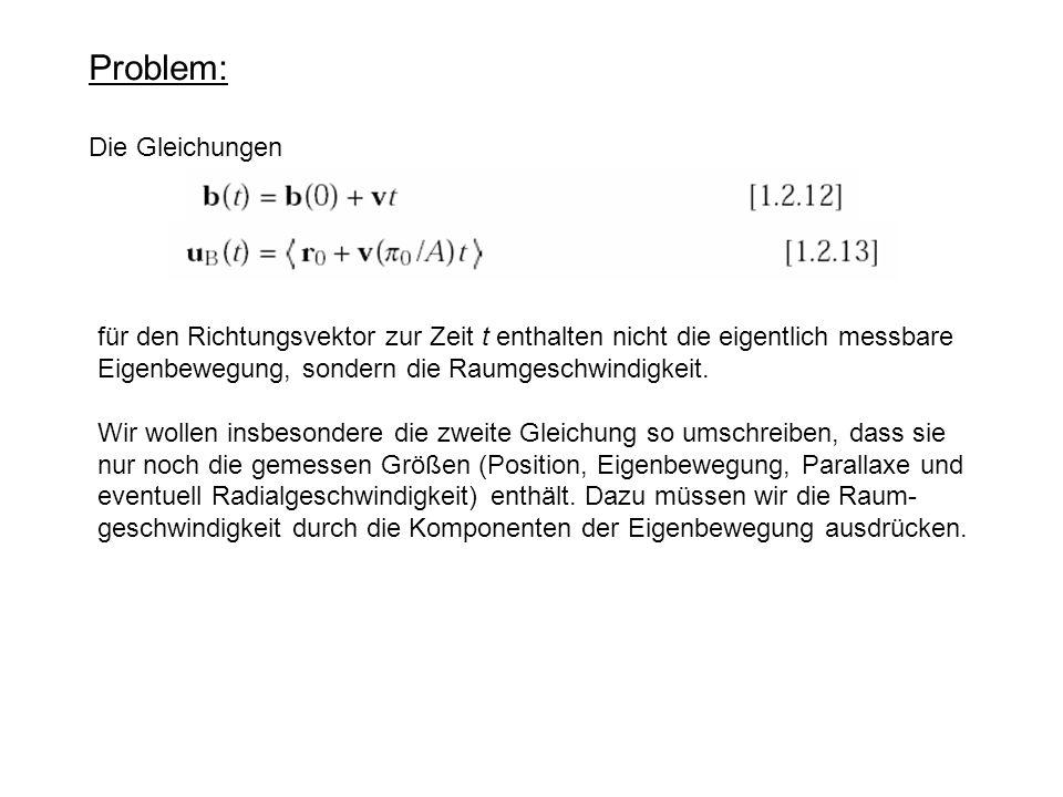 Problem: Die Gleichungen