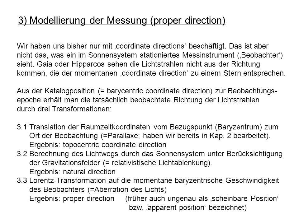 3) Modellierung der Messung (proper direction)