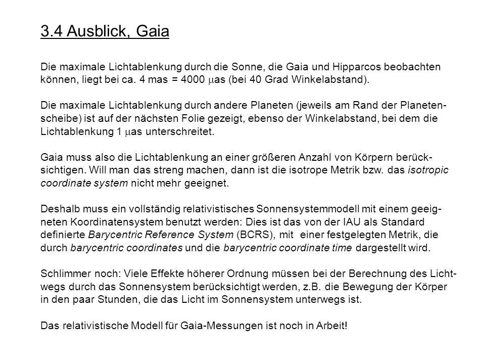 3.4 Ausblick, Gaia