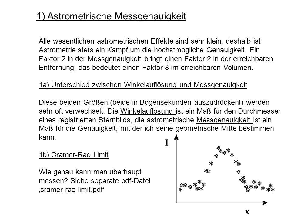 1) Astrometrische Messgenauigkeit
