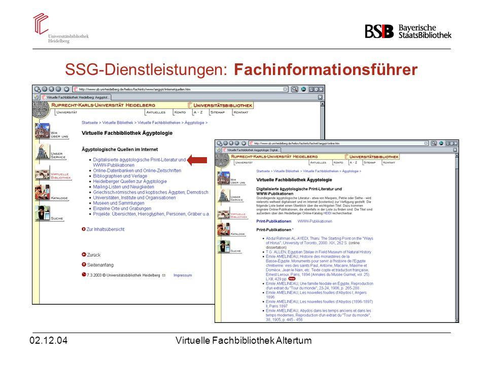 SSG-Dienstleistungen: Fachinformationsführer