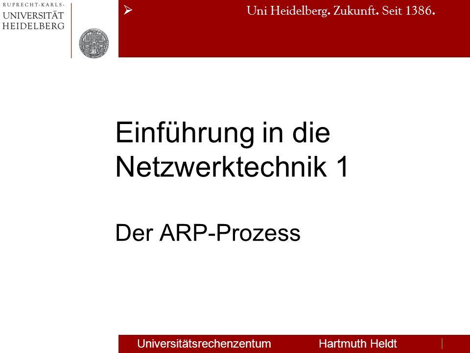 Einführung in die Netzwerktechnik 1 Der ARP-Prozess