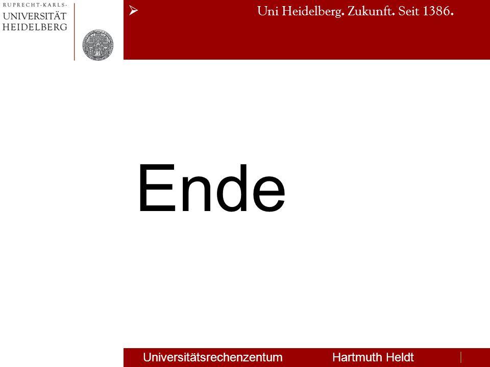Ende Universitätsrechenzentum Hartmuth Heldt