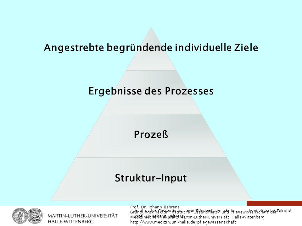 Angestrebte begründende individuelle Ziele Ergebnisse des Prozesses
