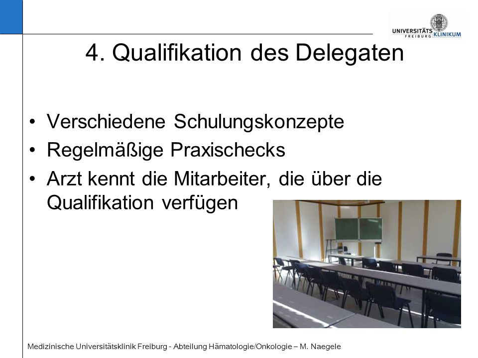 4. Qualifikation des Delegaten