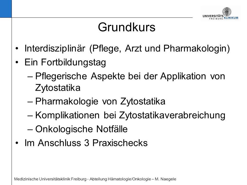 Grundkurs Interdisziplinär (Pflege, Arzt und Pharmakologin)