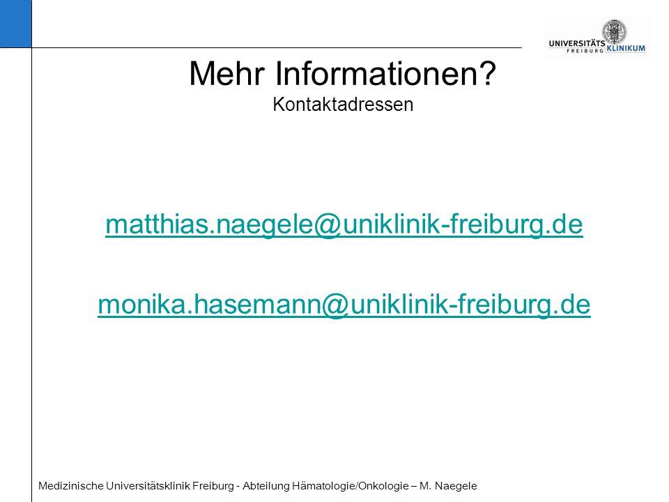 Mehr Informationen Kontaktadressen