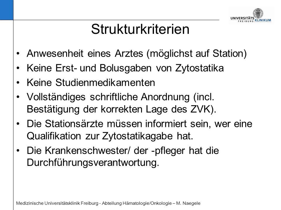 Strukturkriterien Anwesenheit eines Arztes (möglichst auf Station)