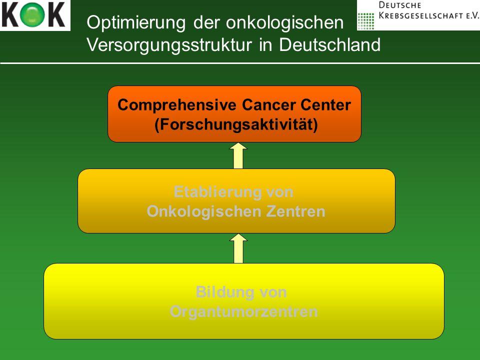 Optimierung der onkologischen Versorgungsstruktur in Deutschland