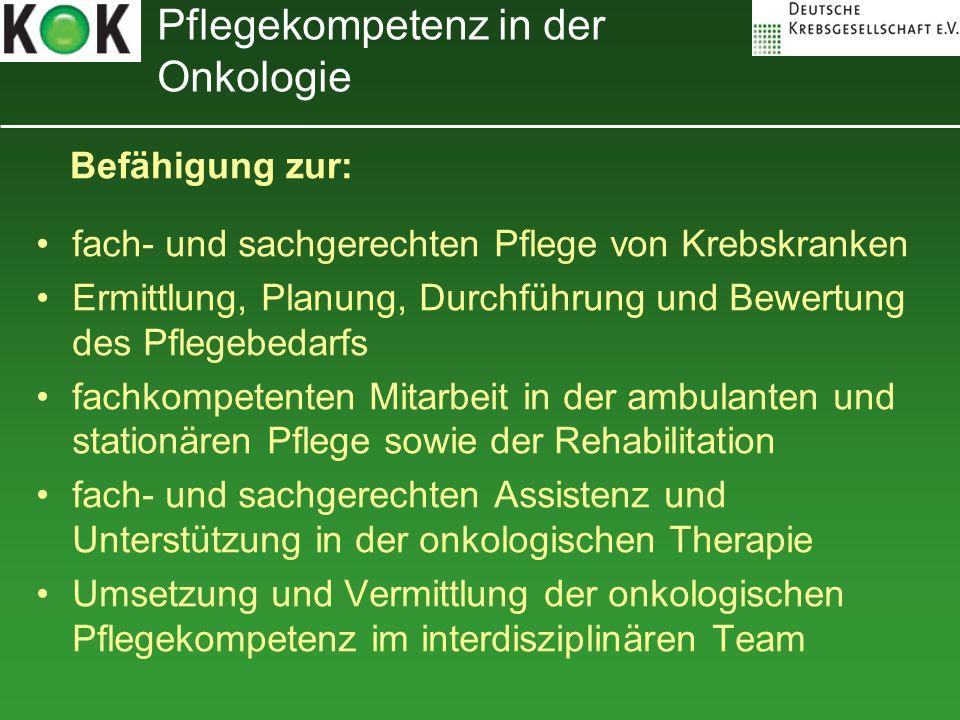Pflegekompetenz in der Onkologie