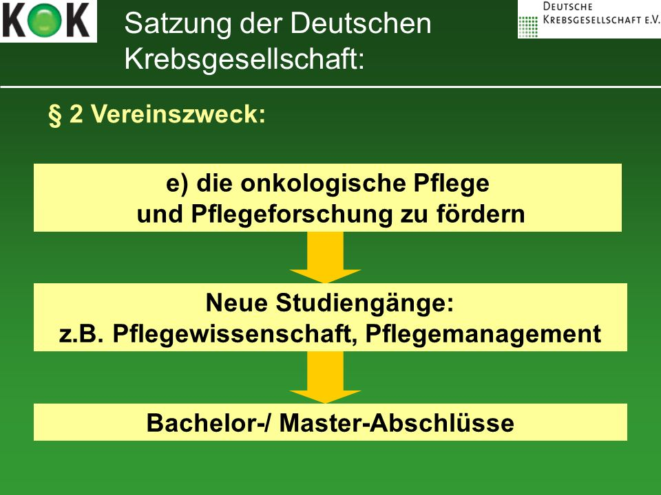 Satzung der Deutschen Krebsgesellschaft:
