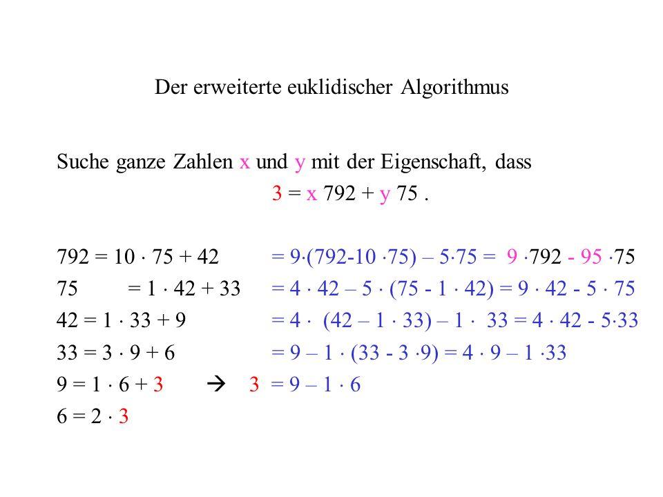 Der erweiterte euklidischer Algorithmus