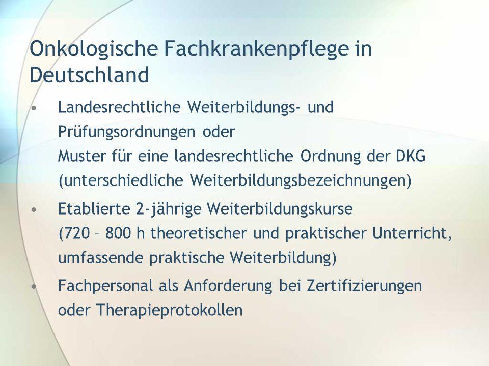 Onkologische Fachkrankenpflege in Deutschland