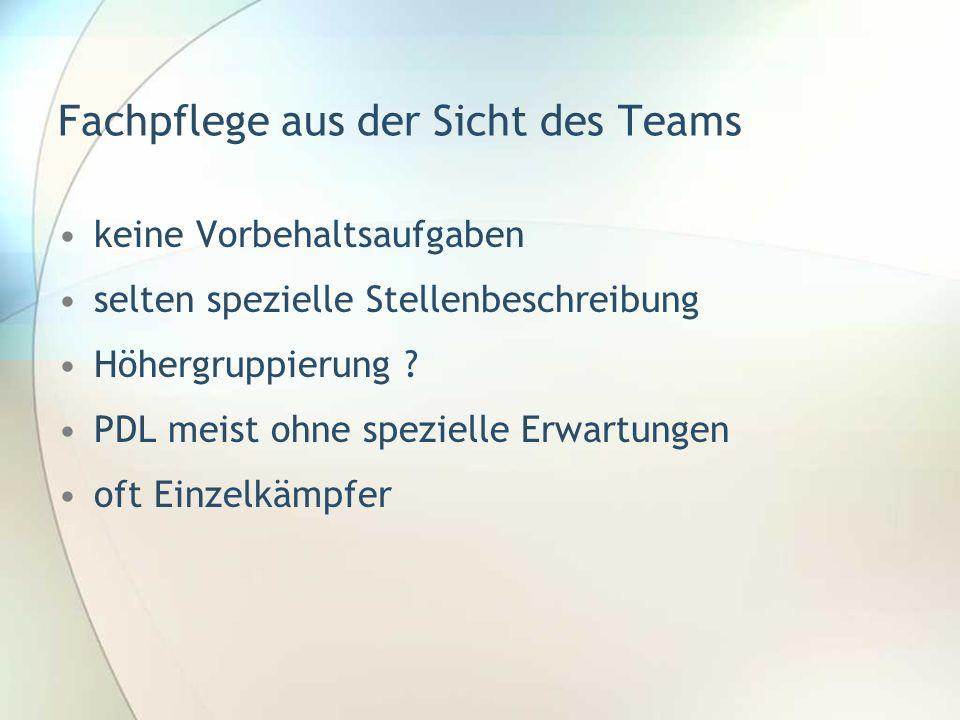 Fachpflege aus der Sicht des Teams