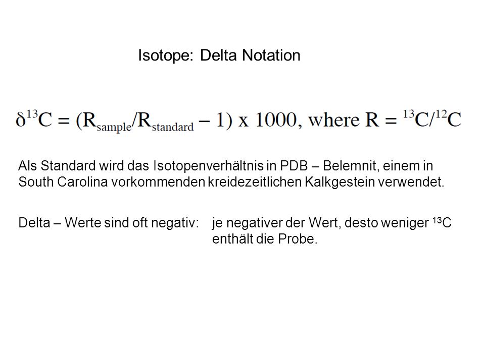 Isotope: Delta Notation