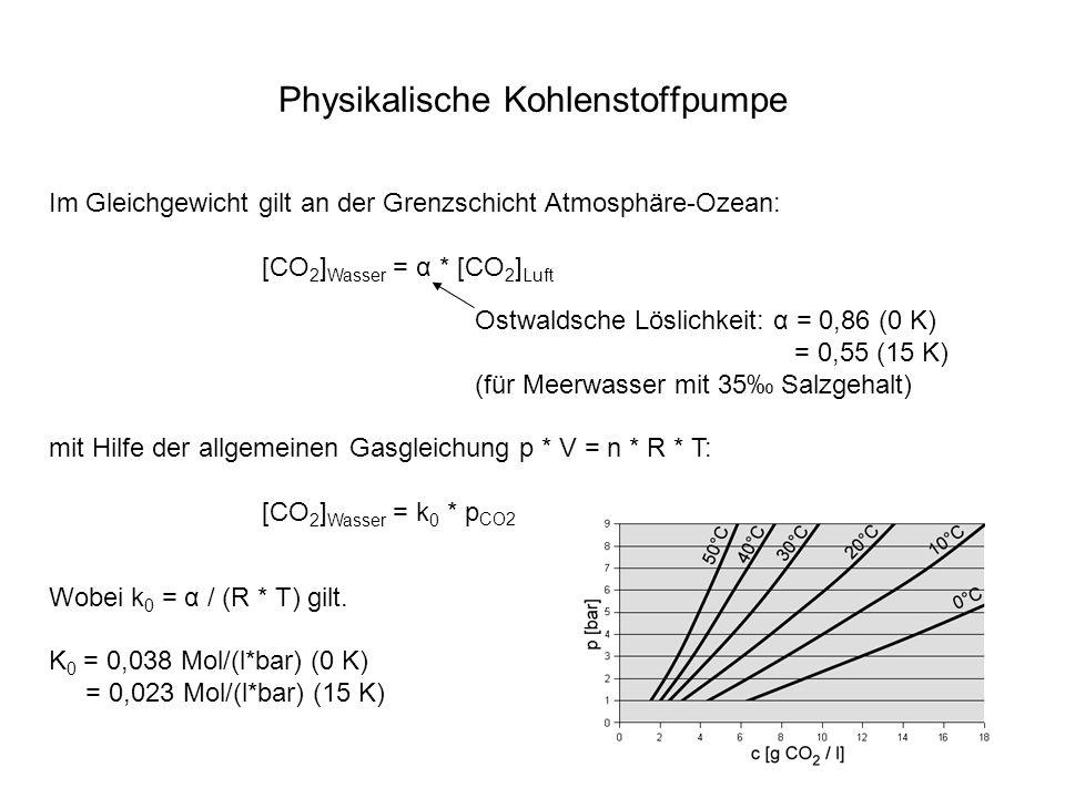 Physikalische Kohlenstoffpumpe