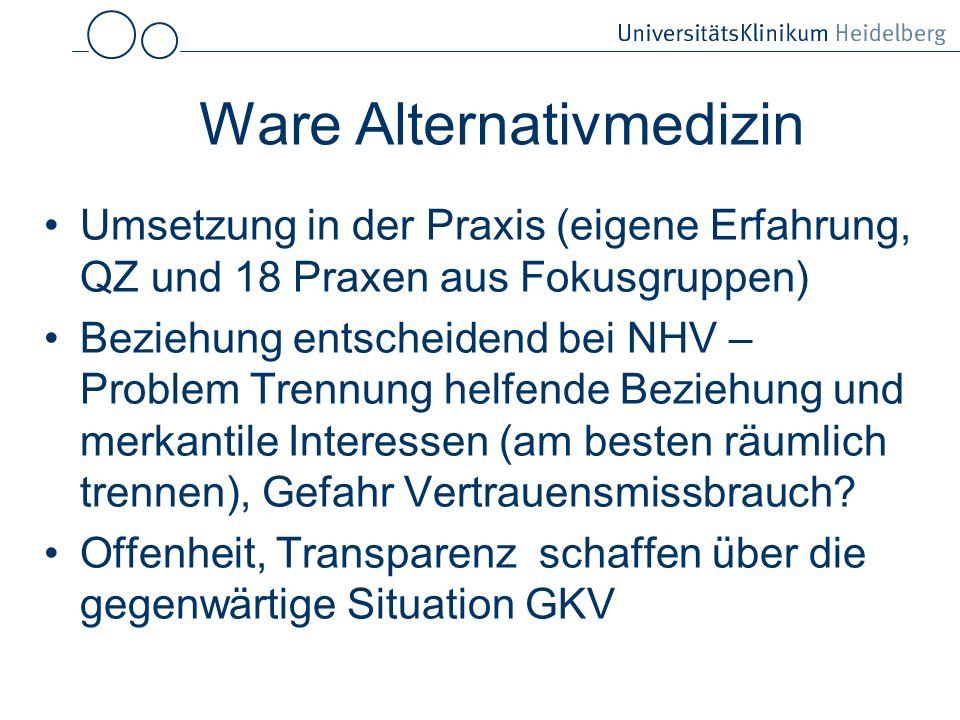 Ware Alternativmedizin