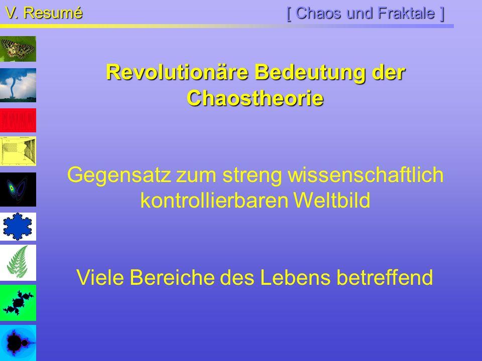 Revolutionäre Bedeutung der Chaostheorie