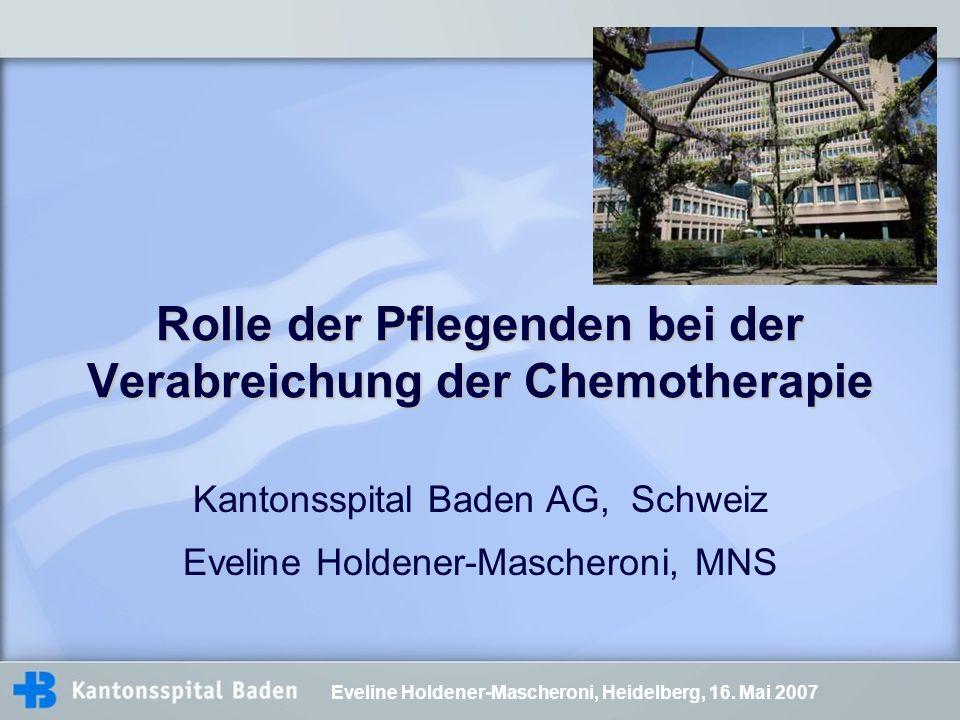 Rolle der Pflegenden bei der Verabreichung der Chemotherapie