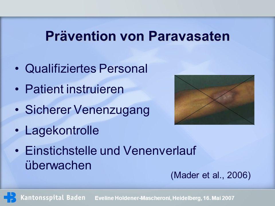 Prävention von Paravasaten
