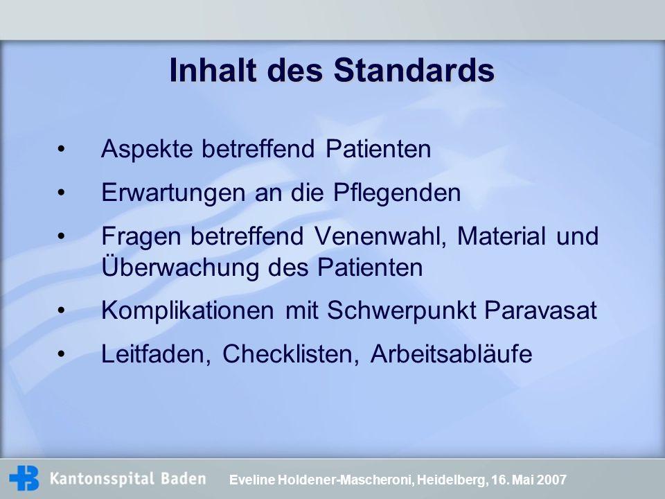 Inhalt des Standards Aspekte betreffend Patienten