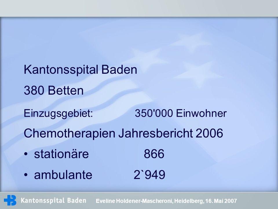 Chemotherapien Jahresbericht 2006 stationäre 866 ambulante 2`949