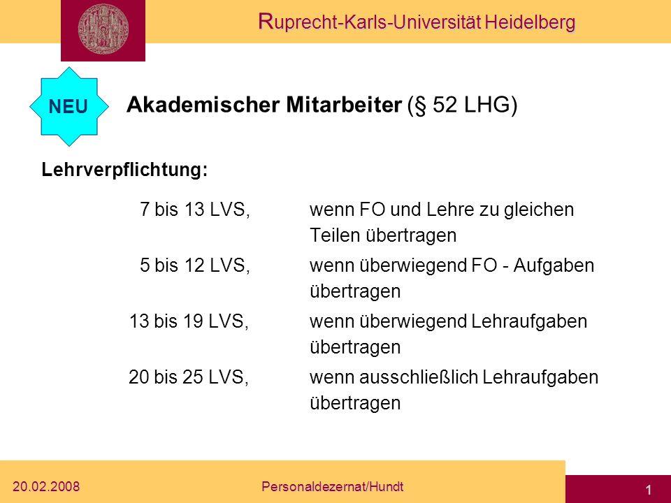 Akademischer Mitarbeiter (§ 52 LHG)