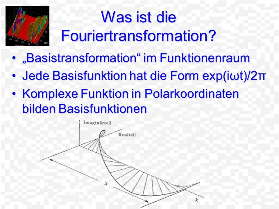 Was ist die Fouriertransformation
