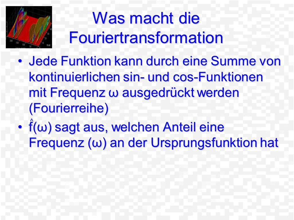 Was macht die Fouriertransformation