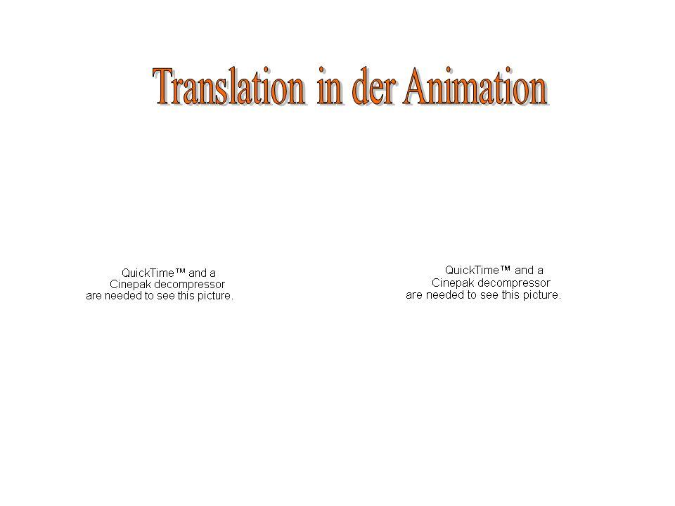 Translation in der Animation