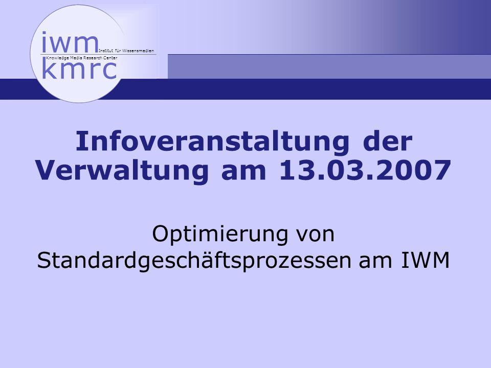Infoveranstaltung der Verwaltung am 13.03.2007
