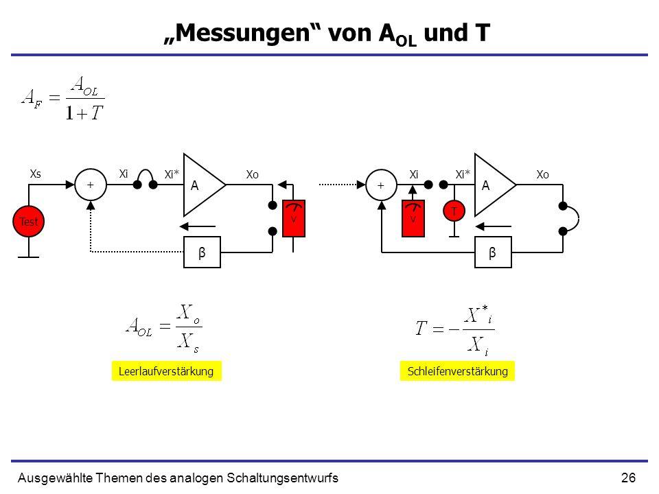 """""""Messungen von AOL und T"""