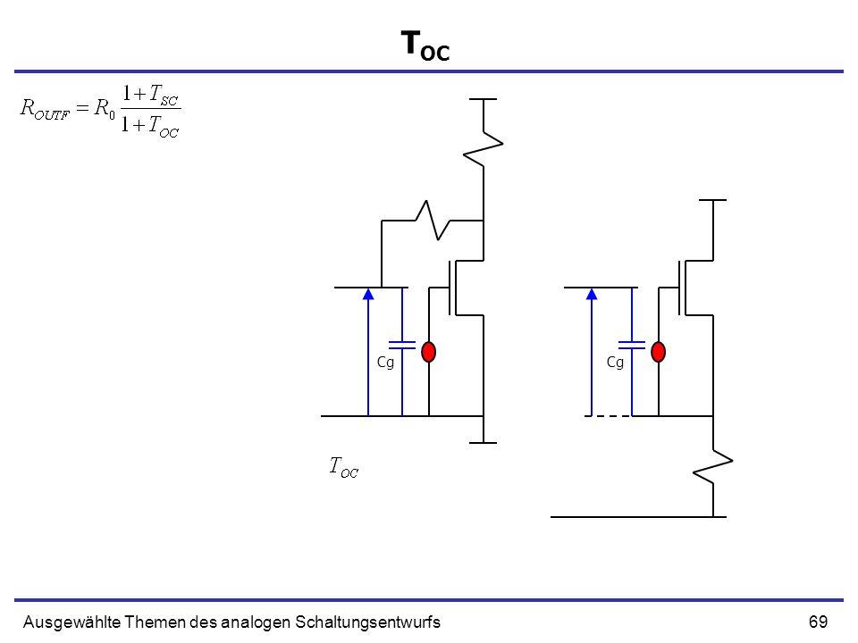 TOC Cg Cg Ausgewählte Themen des analogen Schaltungsentwurfs