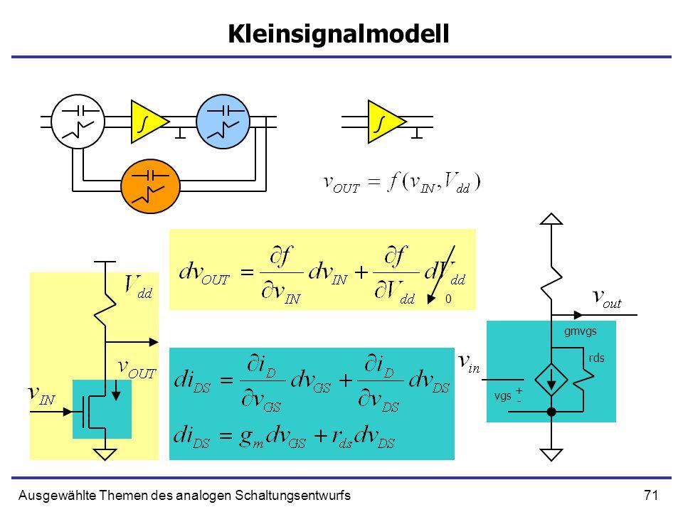 Kleinsignalmodell Ausgewählte Themen des analogen Schaltungsentwurfs