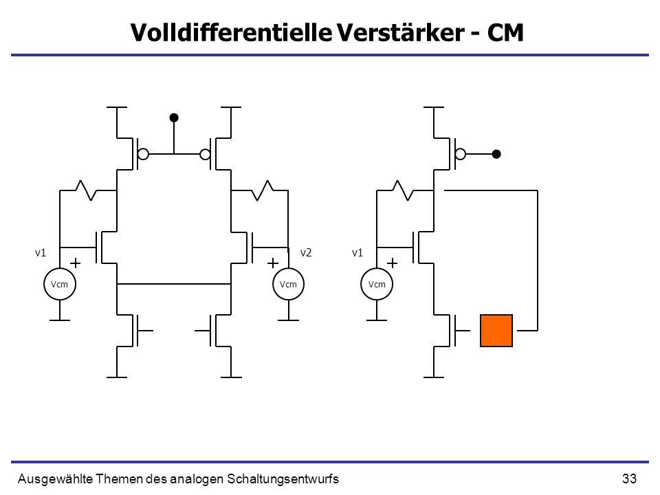 Volldifferentielle Verstärker - CM