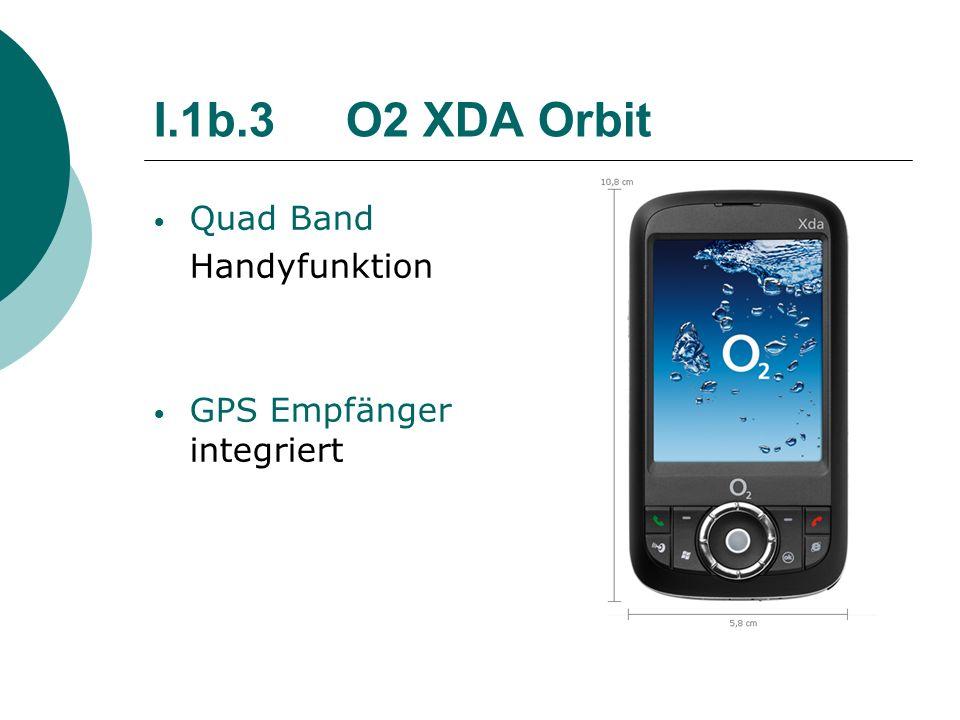 I.1b.3 O2 XDA Orbit Quad Band Handyfunktion GPS Empfänger integriert